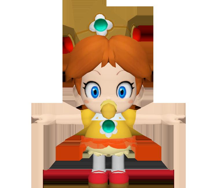 Baby daisy mario clipart clipart transparent stock Wii U - Mario Kart 8 - Baby Daisy - The Models Resource clipart transparent stock
