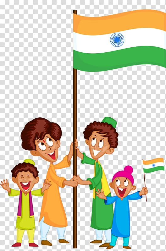 Baby day parade clipart vector free download People holding India flag illustration, India January 26 Song ... vector free download