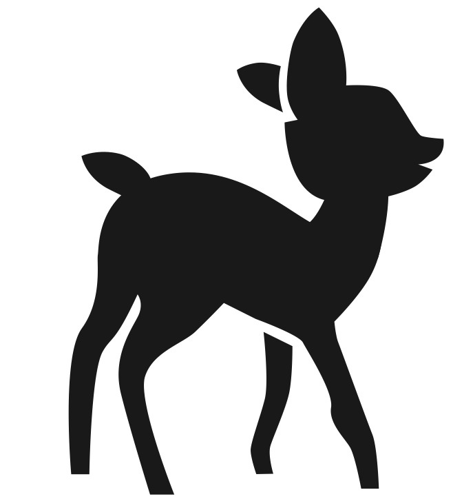 Baby deer clipart silhouette picture library Free Baby Deer Silhouette, Download Free Clip Art, Free Clip Art on ... picture library