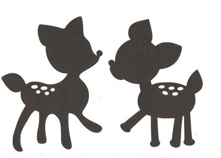Baby deer clipart silhouette picture transparent library Baby Deer Silhouette Clipart Panda Free Images Clipart - Free Clip ... picture transparent library