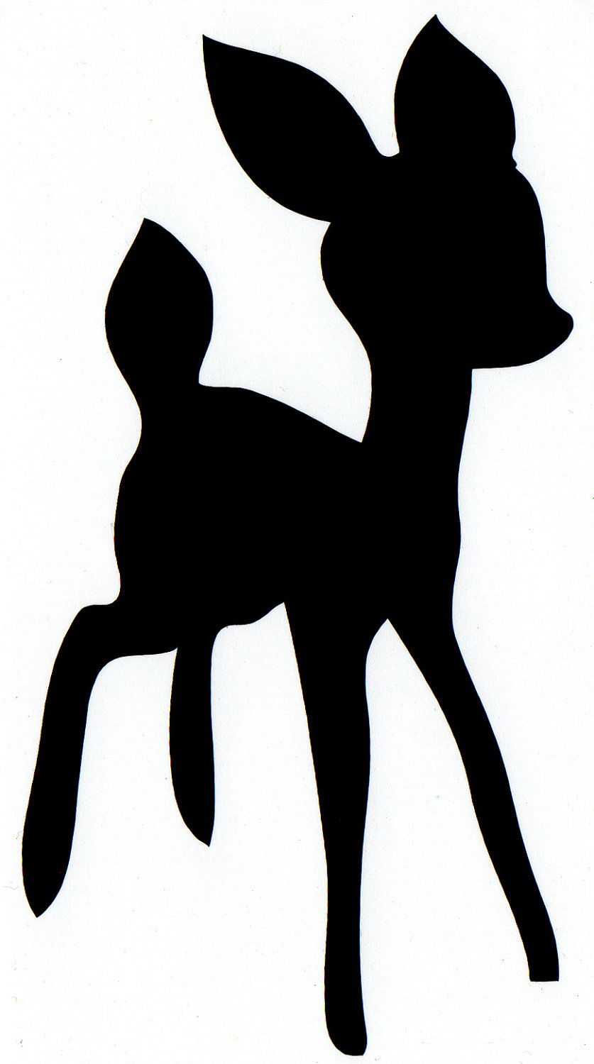 Baby deer clipart silhouette picture download baby deer self adhesive vinyl decal (No.26). $2.75, via Etsy. | love ... picture download