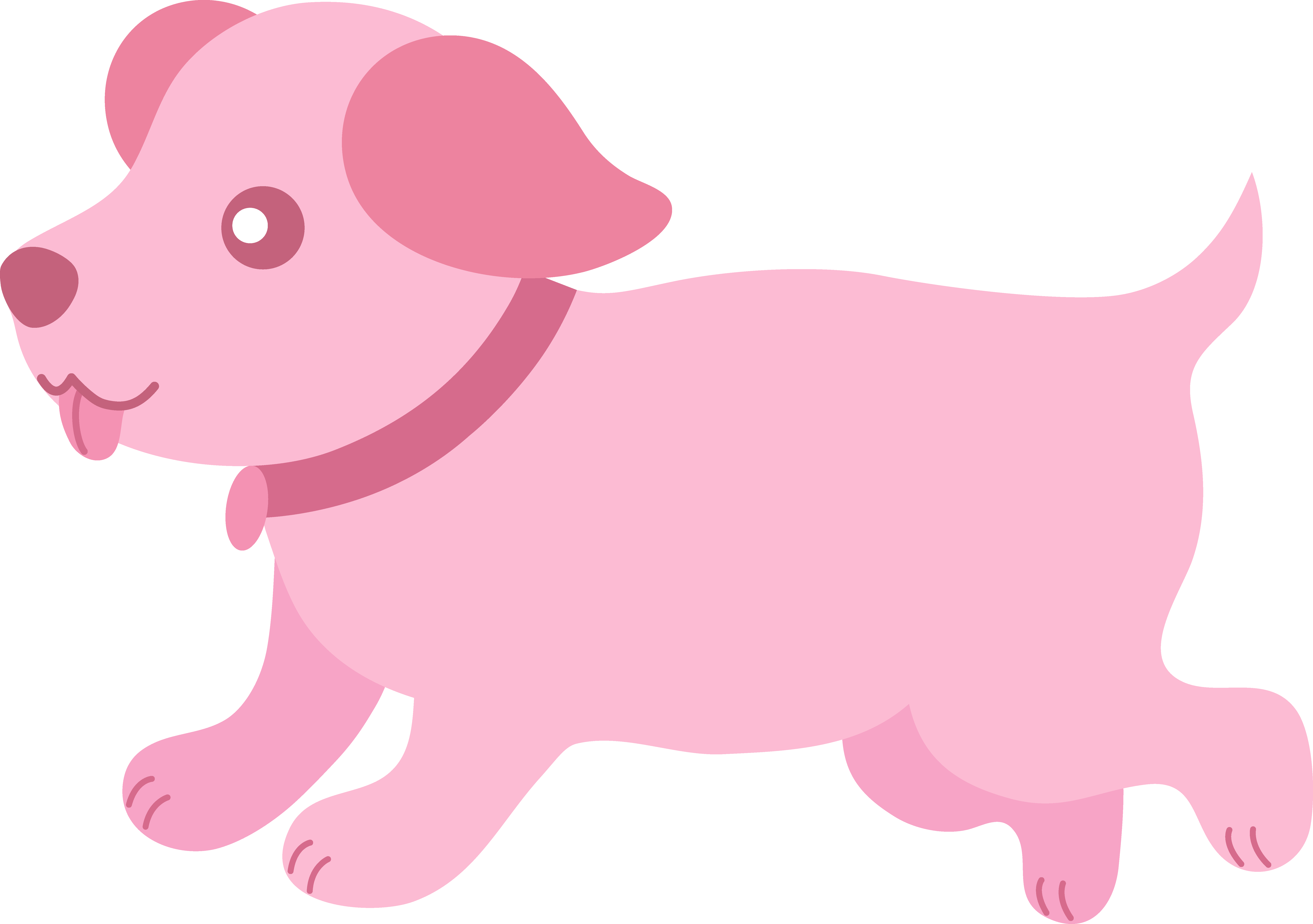 Cute Pink Puppy Running - Free Clip Art jpg free download