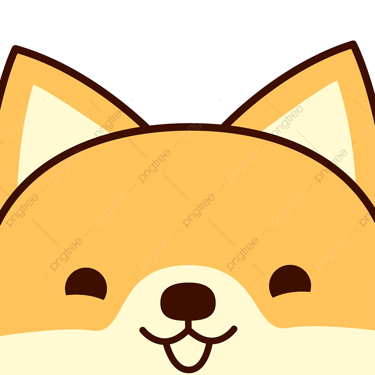 Cute Baby Dog Face Vector, Cute, Cat, Illustration PNG and Vector ... banner free library