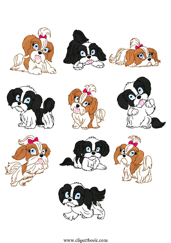 LE - Baby Shih Tzu dogfree vector clipart designs for digitizers ... png