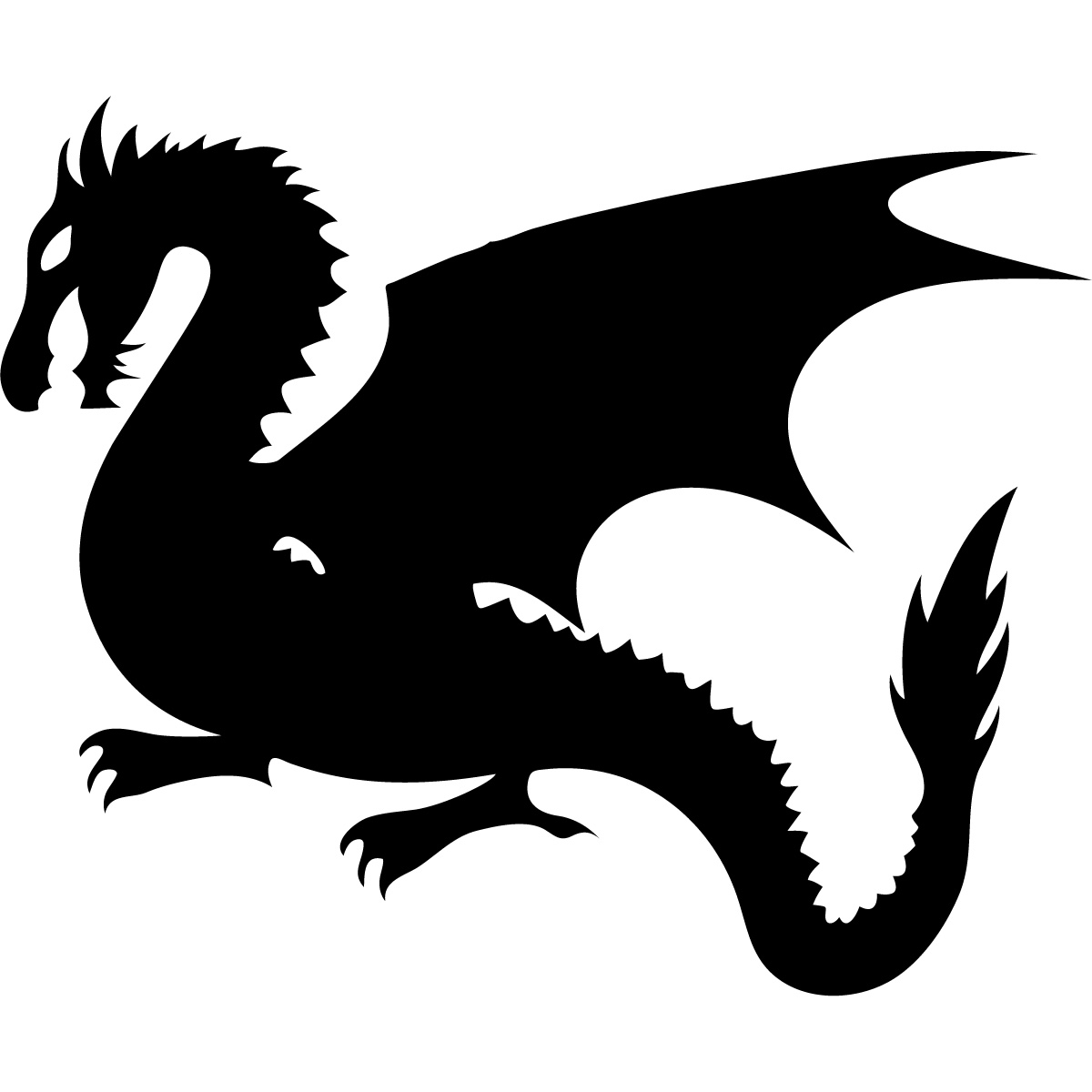 Baby dragon clipart black and white svg royalty free Cute baby dragon clipart free images image 6 - Clipartix svg royalty free