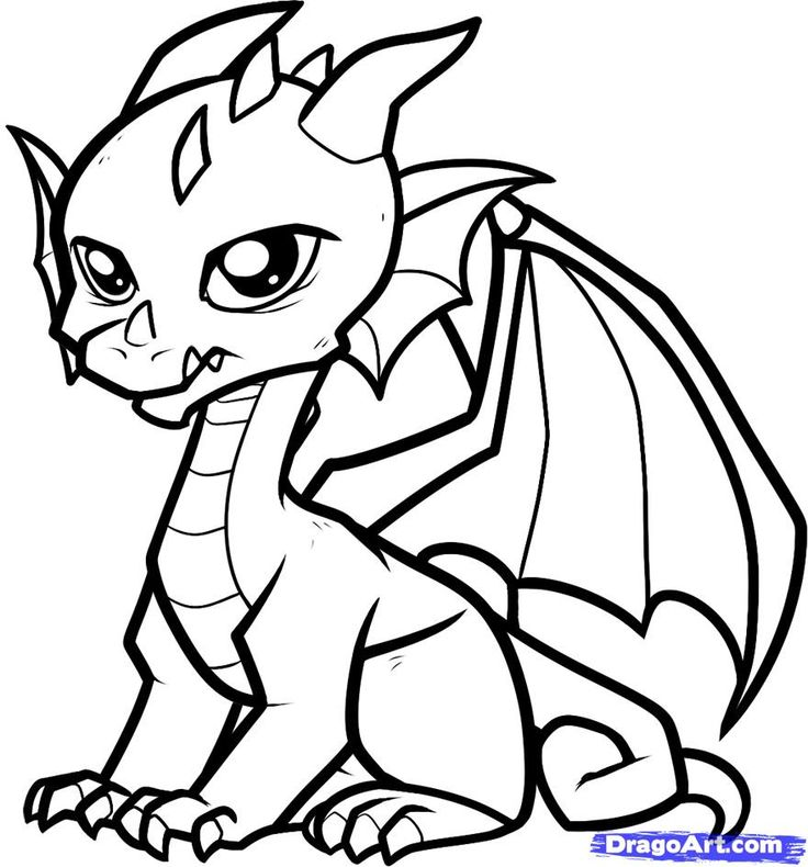 Baby dragon clipart black and white svg freeuse Dragon Drawings Black And White | Free download best Dragon Drawings ... svg freeuse