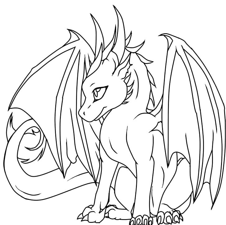 Baby dragon clipart black and white jpg black and white stock Coloring Book Komodo Dragon Child Adult PNG, Clipart, Adult, Artwork ... jpg black and white stock