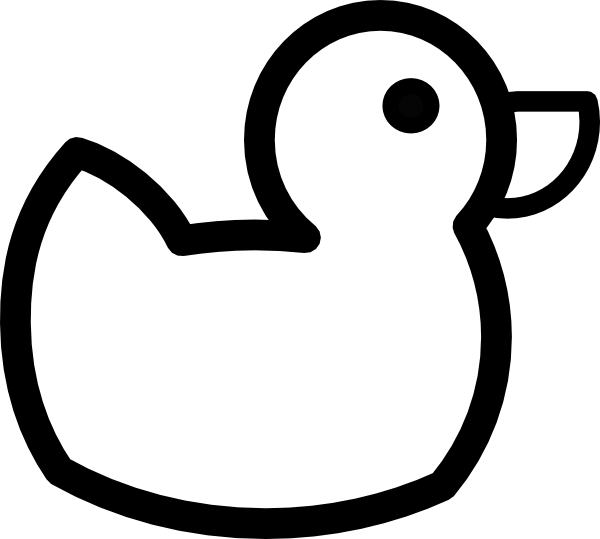 Duck images clipart black and white