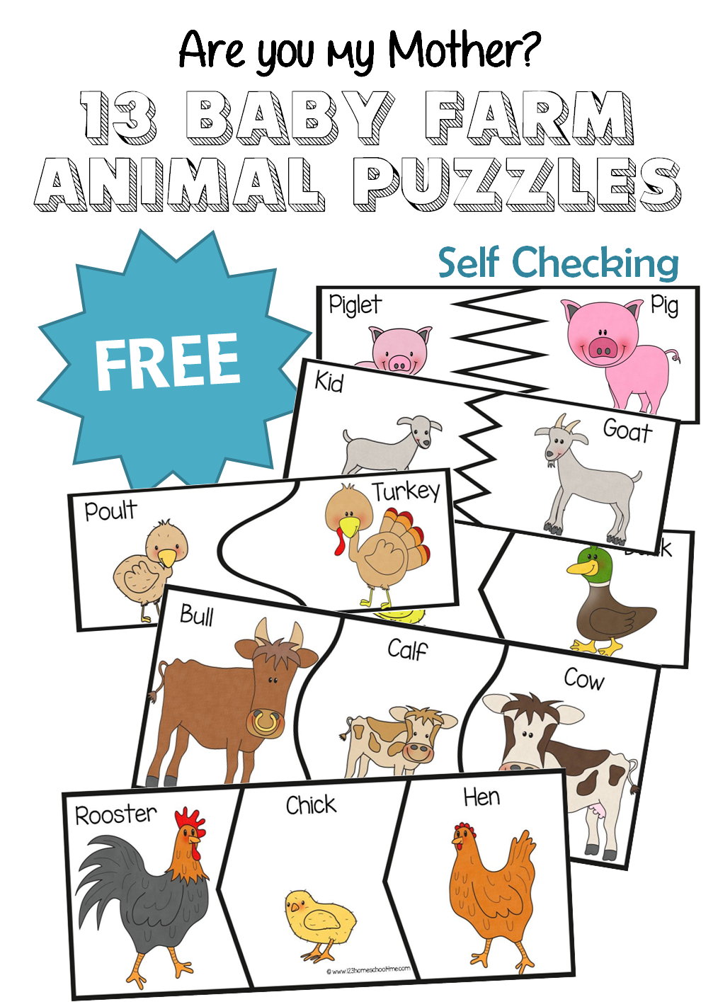 Preschool parts of an apple clipart clip art royalty free library Are You My Mother? 13 Baby Farm Animal Puzzles | Pinterest | Toddler ... clip art royalty free library