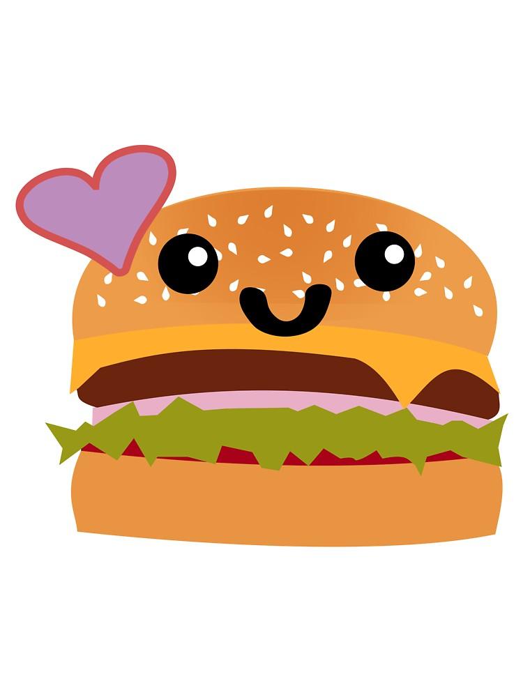 Baby eating hamburger clipart image Cute Hamburger | Baby One-Piece image