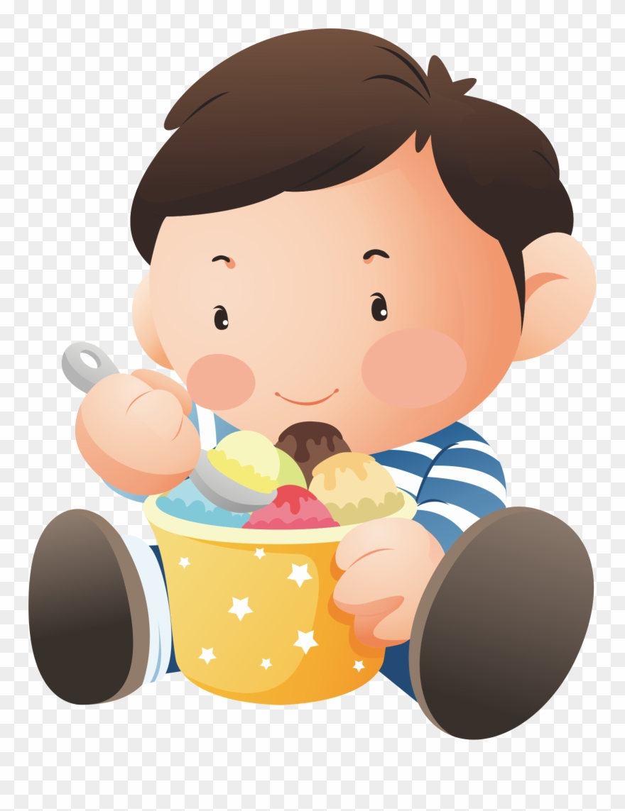 Baby eating ice cream clipart png transparent stock Ice Cream Chocolate Cake Child Eating - Baby With Icecream Png ... png transparent stock