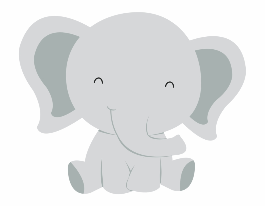 Clipart baby elephant images graphic transparent download Baby Elephant Clipart Black And White - Elefante Bebes En Caricatura ... graphic transparent download