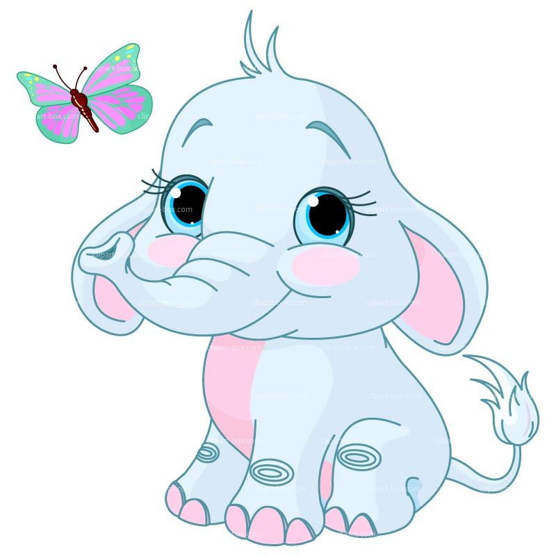 Displaying baby elephant clipart | ClipartMonk - Free Clip Art ... banner black and white