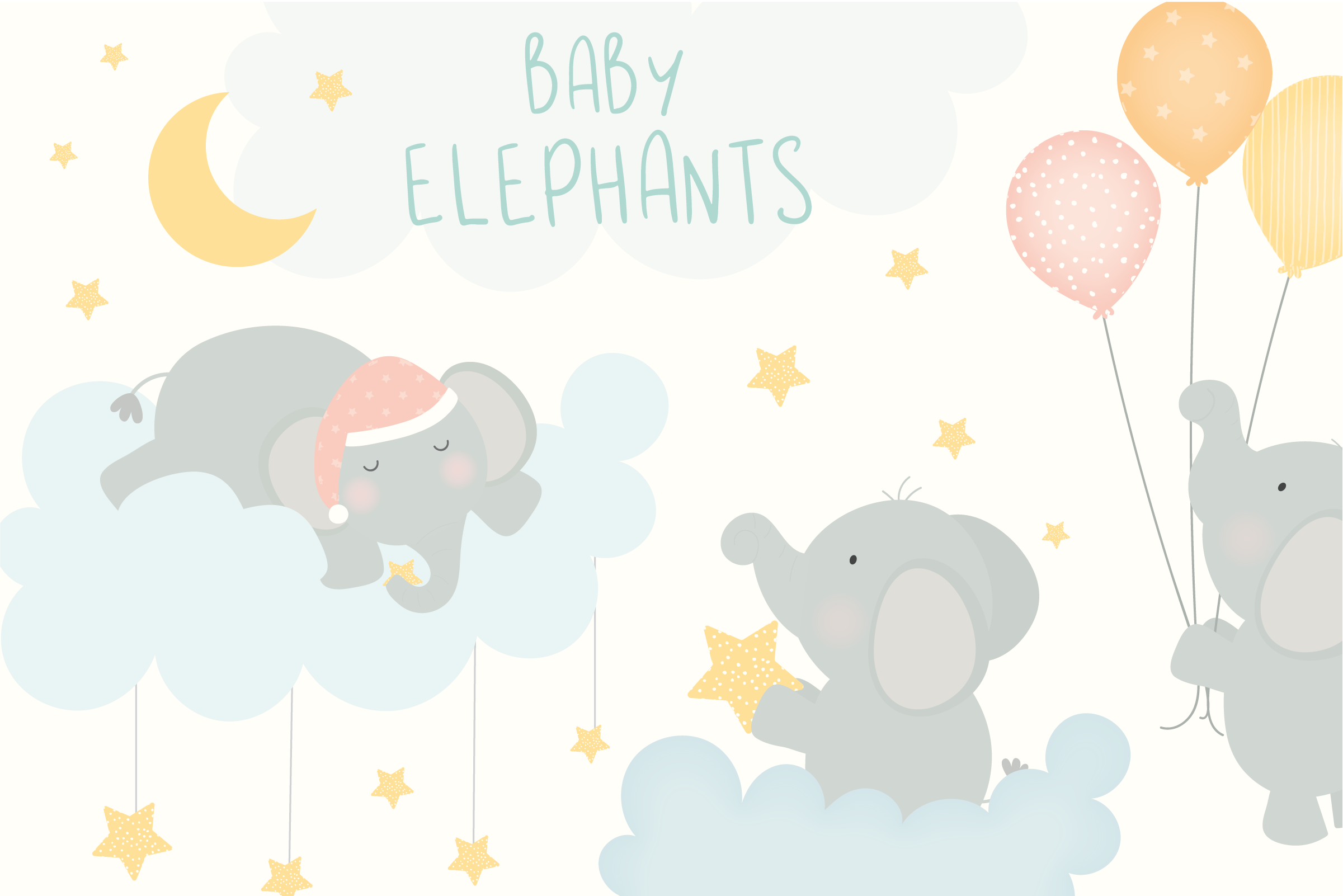 Baby elephant clipart clip royalty free Baby Elephants Clipart clip royalty free