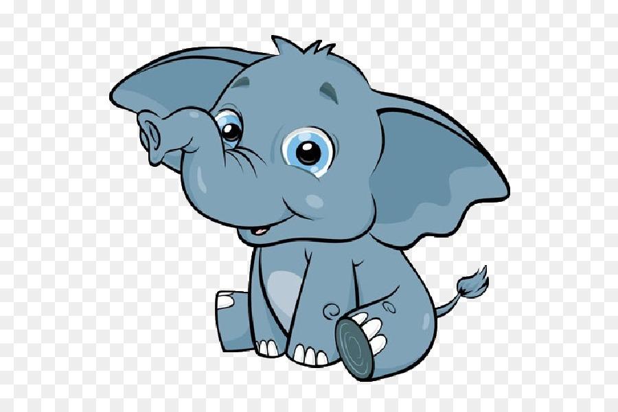 Baby elephant clipart cartoon vector library Baby Elephant Cartoon png download - 600*600 - Free Transparent ... vector library