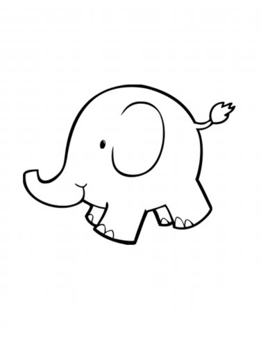 Baby elephant clipart outline banner transparent stock Free Elephant Outline, Download Free Clip Art, Free Clip Art on ... banner transparent stock