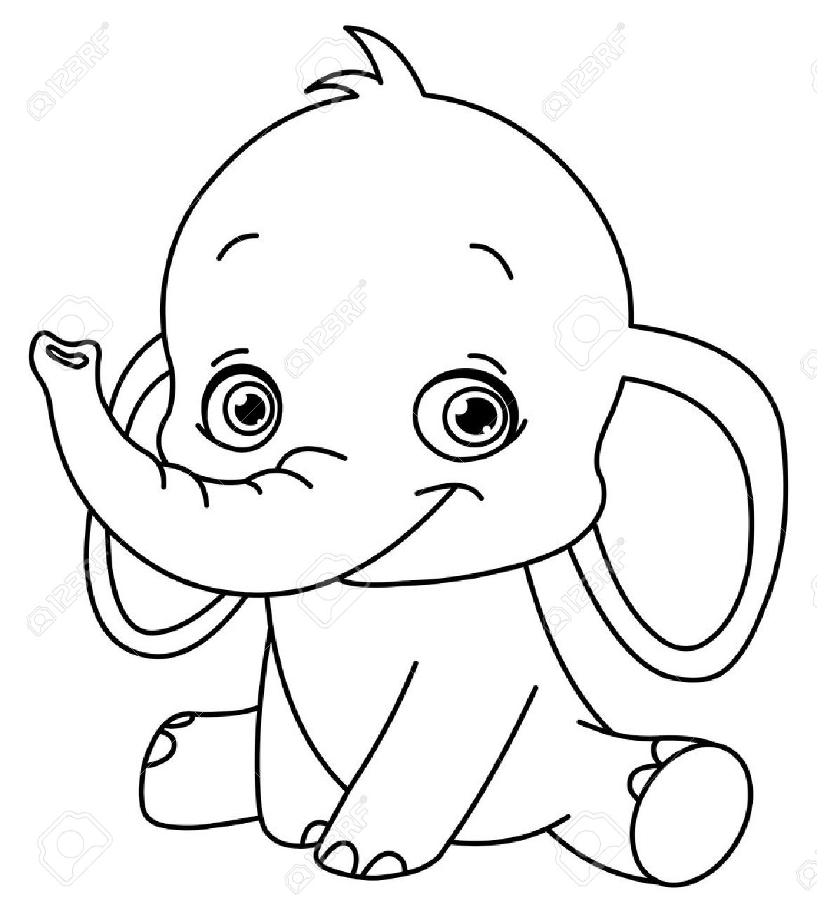 Baby elephant clipart outline png transparent stock elephant outline Elephant clipart outline trunk up clipartxtras jpeg ... png transparent stock