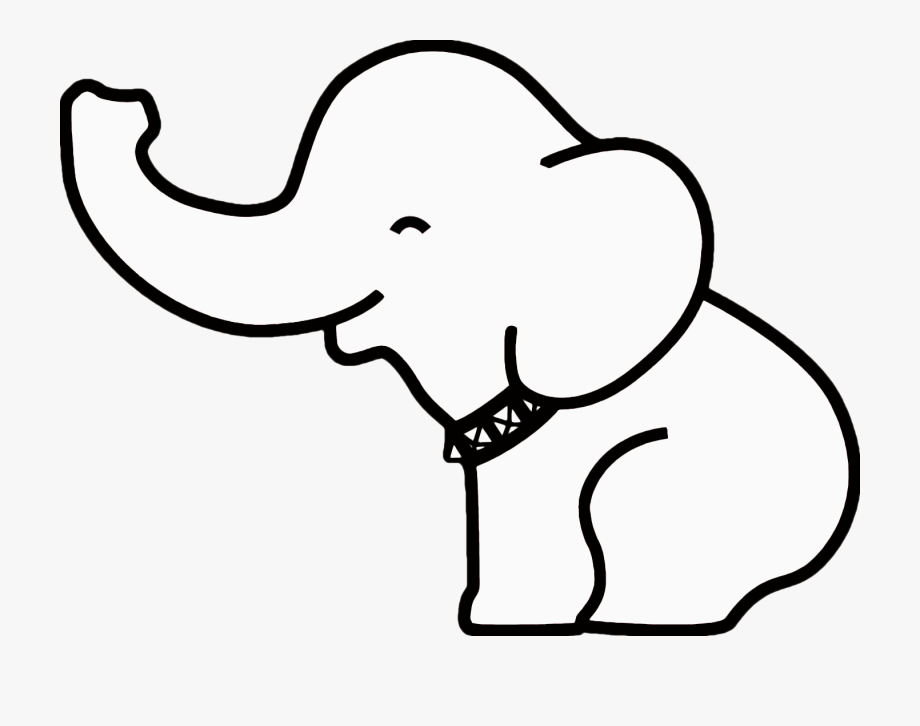 Baby elephant clipart outline png transparent Elephant Clipart Outline - Baby Elephant Clipart Black And White ... png transparent