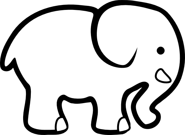 Baby elephant clipart outline svg freeuse Free Baby Elephant Outline, Download Free Clip Art, Free Clip Art on ... svg freeuse