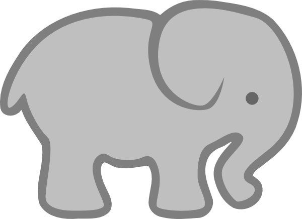 Grey elephant clipart banner freeuse download Gray Elephant Outline Clip Art At Vector Clip Art | Grams place ... banner freeuse download