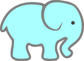 Baby elephant clipart vector svg library download free+elephant+stencils | Blue Baby Elephant clip art - vector clip ... svg library download
