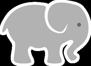 Baby elephant clipart vector clip freeuse Light grey baby elephant clip art vector – Gclipart.com clip freeuse