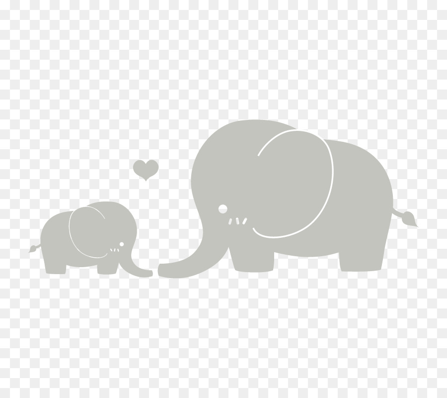 Baby india elephants clipart