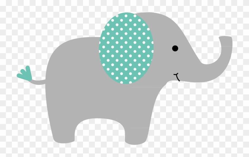 Baby shower elephant clipart girl