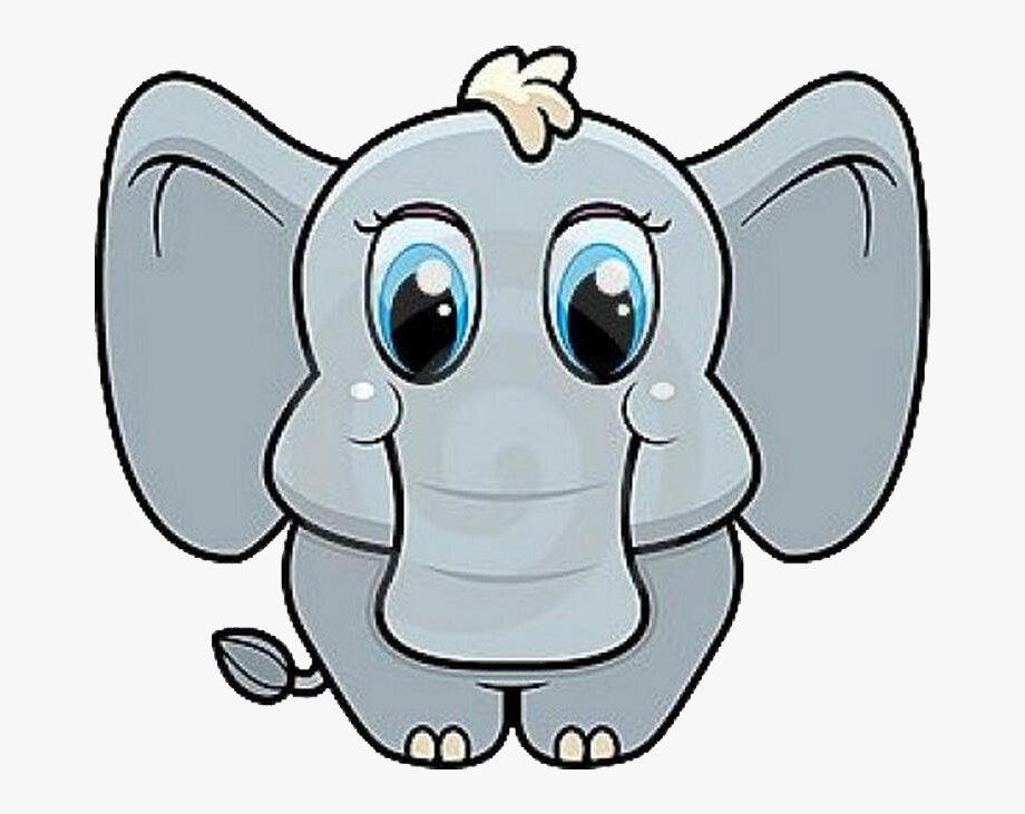 Baby elephant head clipart png royalty free download Cartoon Elephant Head - Cute Cartoon Baby Animals #1390930 - Free ... png royalty free download