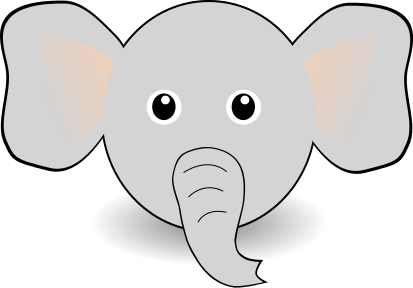 Baby elephant head clipart vector freeuse stock cute elephant head | Icons | Elephant face, Funny elephant, Elephant ... vector freeuse stock