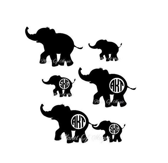 Baby elephant monogram clipart picture stock Elephant Monogram SVG File, Elephant Mom EPS File, Baby Elephant Cut ... picture stock