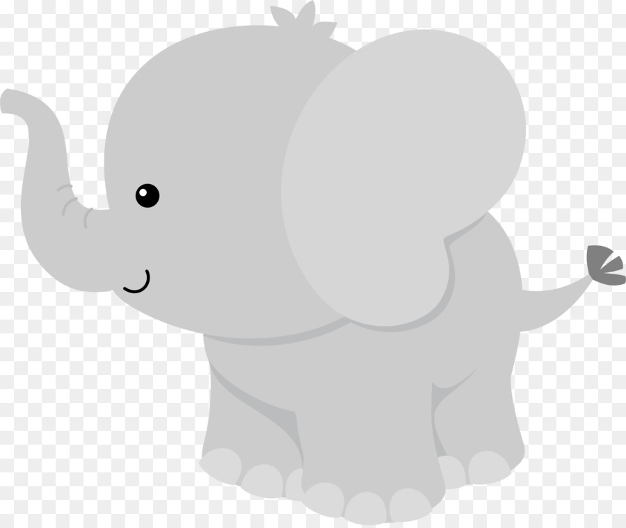 Baby elephant party clipart black and white Baby Elephant Cartoon clipart - Elephants, Party, Elephant ... black and white