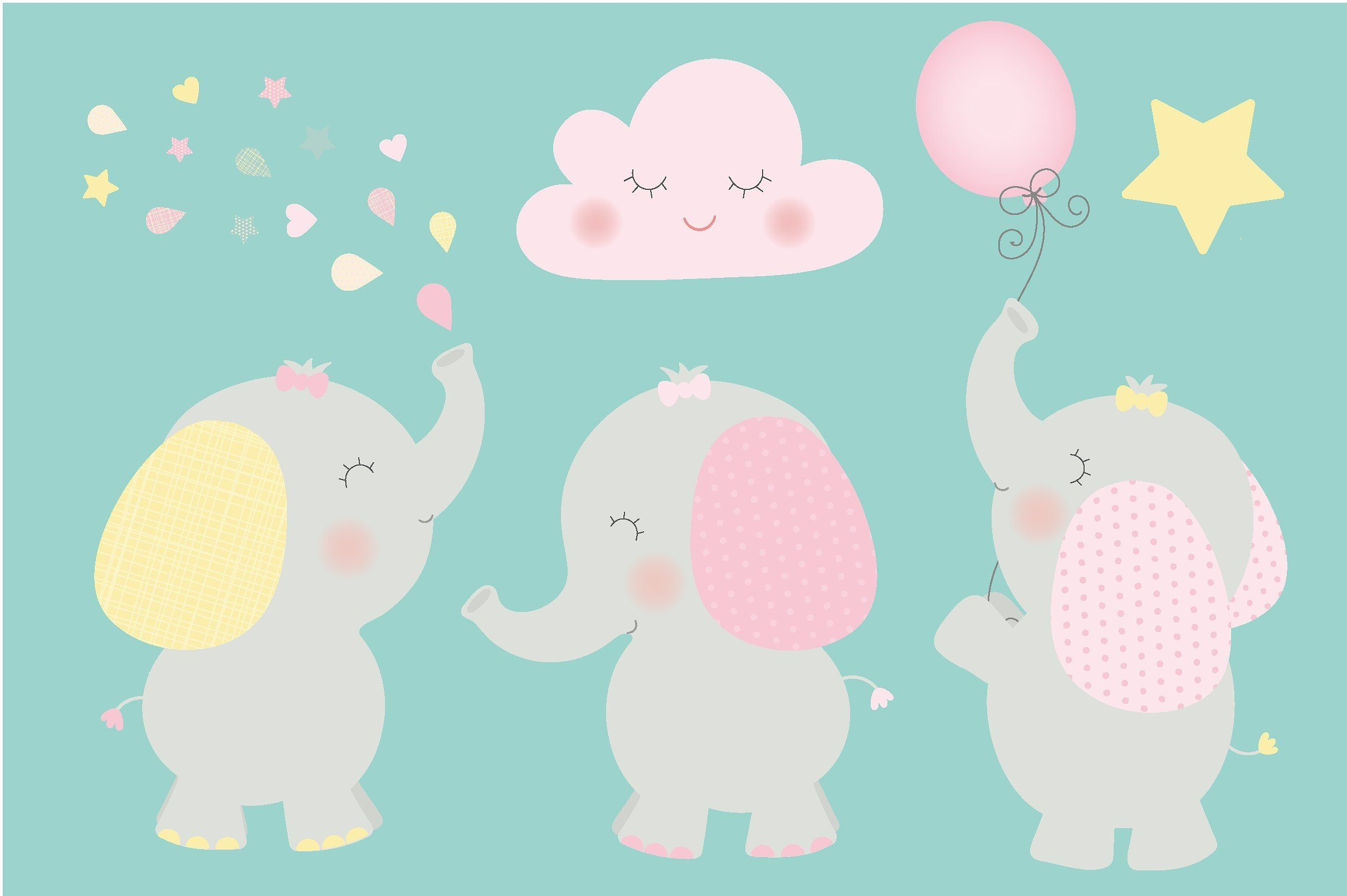Baby elephant party clipart clipart royalty free stock Baby elephant clipart by Poppymoondesign on @creativemarket   DIY ... clipart royalty free stock