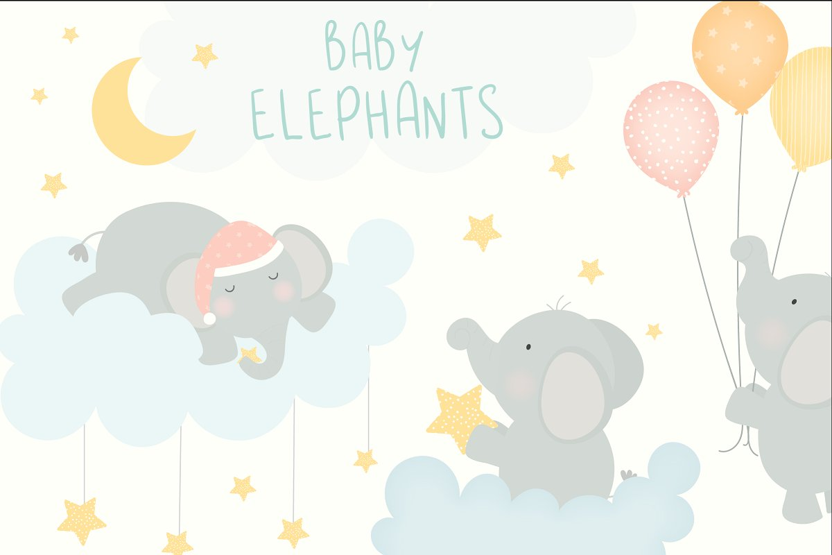 Baby elephant party clipart png royalty free Baby Elephants png royalty free