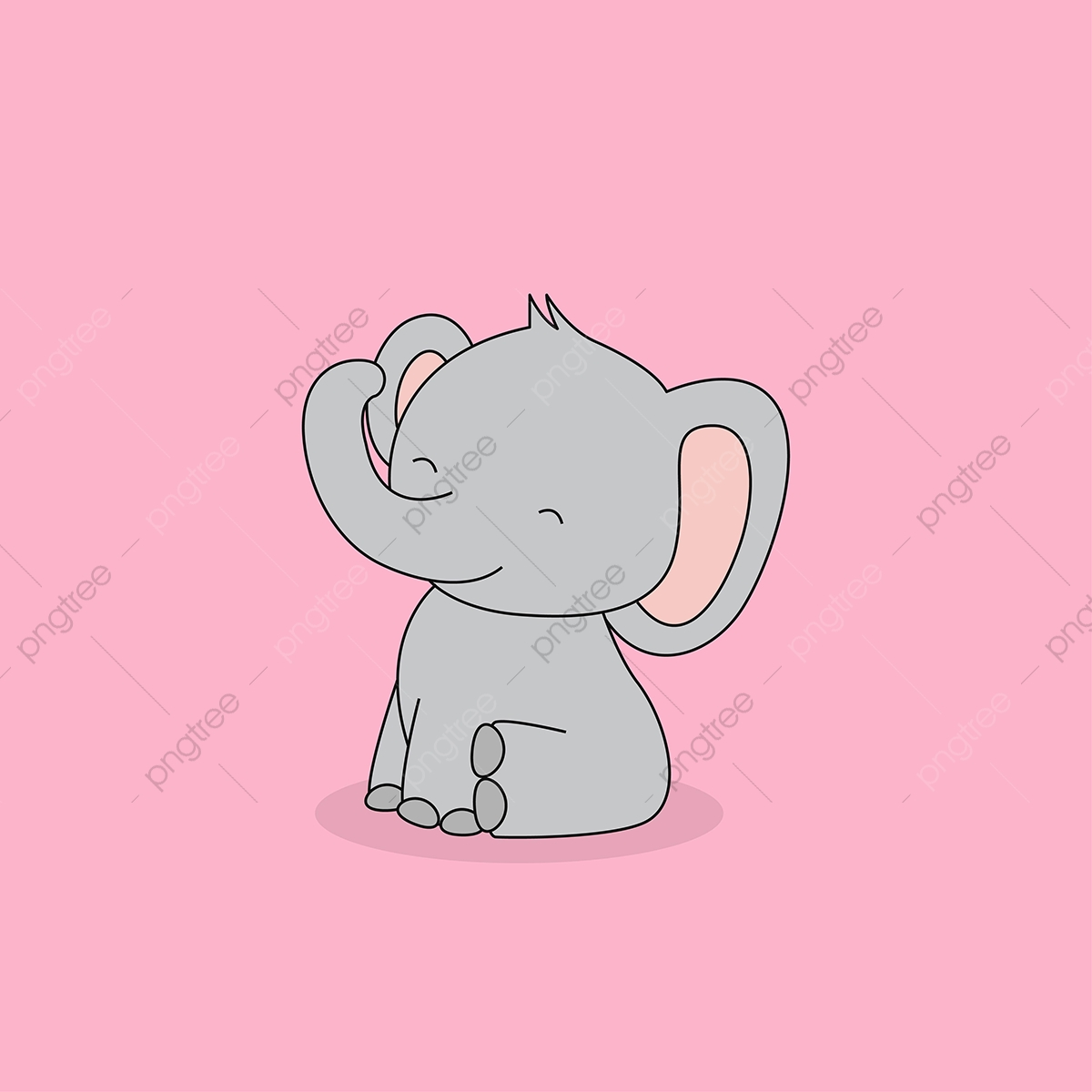 Cute Sitting Baby Elephant, Elephant, Baby, Cute PNG and Vector with ... picture stock