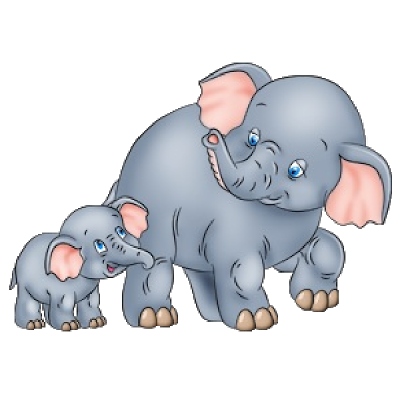 Cute Baby and Momma Elephant Clip Art | Mother And Baby Elephant\'s ... jpg royalty free