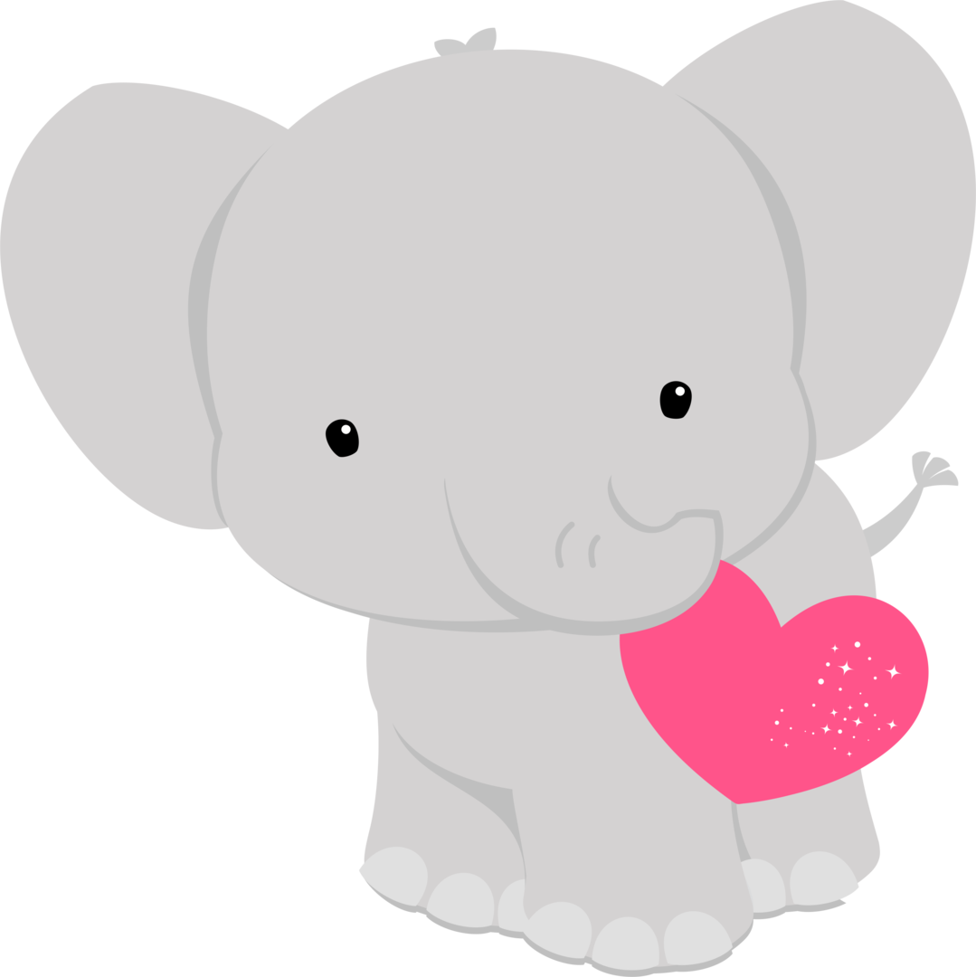 Baby elephant with heart clipart picture black and white download ✿*FAUNA ENAMORADA*✿* | dibujos infantiles | Pinterest | Simple ... picture black and white download