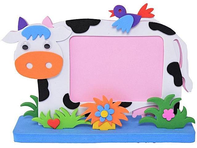 Sunshine EVA Cartoon Album Po Frame Series for Baby Kids DIY Art Gift-Cow clipart black and white stock