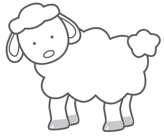 Baby farm animals clipart black and white lamb banner library Lamb Clipart Black And White | Free download best Lamb Clipart Black ... banner library