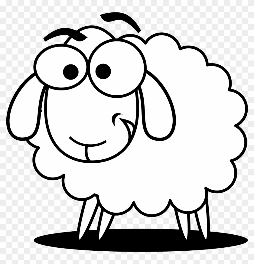 Baby farm animals clipart black and white lamb svg royalty free library Lamb Clipart Scared - Sheep Black And White Clip Art, HD Png ... svg royalty free library