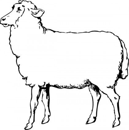Baby farm animals clipart black and white lamb image black and white Sheep clip art for SVG | Cricut / SVG / Sheep | Animals black, white ... image black and white