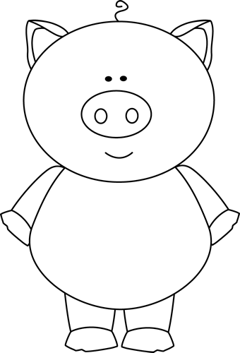Pig face clipart black and white banner library stock cute pig clip art | ... Pig Clip Art Image - black and white outline ... banner library stock