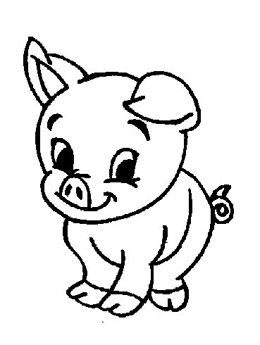 Baby farm animals clipart black and white pig vector library download Free Pictures Of Baby Farm Animals, Download Free Clip Art, Free ... vector library download