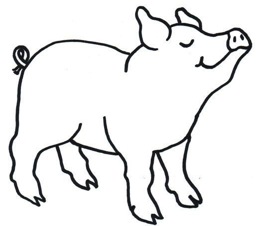 Baby farm animals clipart black and white pig clipart library My Pig ClipArt - Page 4 | Seuss | Pig art, Pig crafts, String art ... clipart library