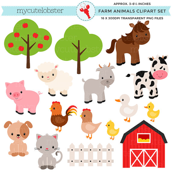 Baby farm clipart graphic transparent library Baby farm animals clipart » Clipart Station graphic transparent library
