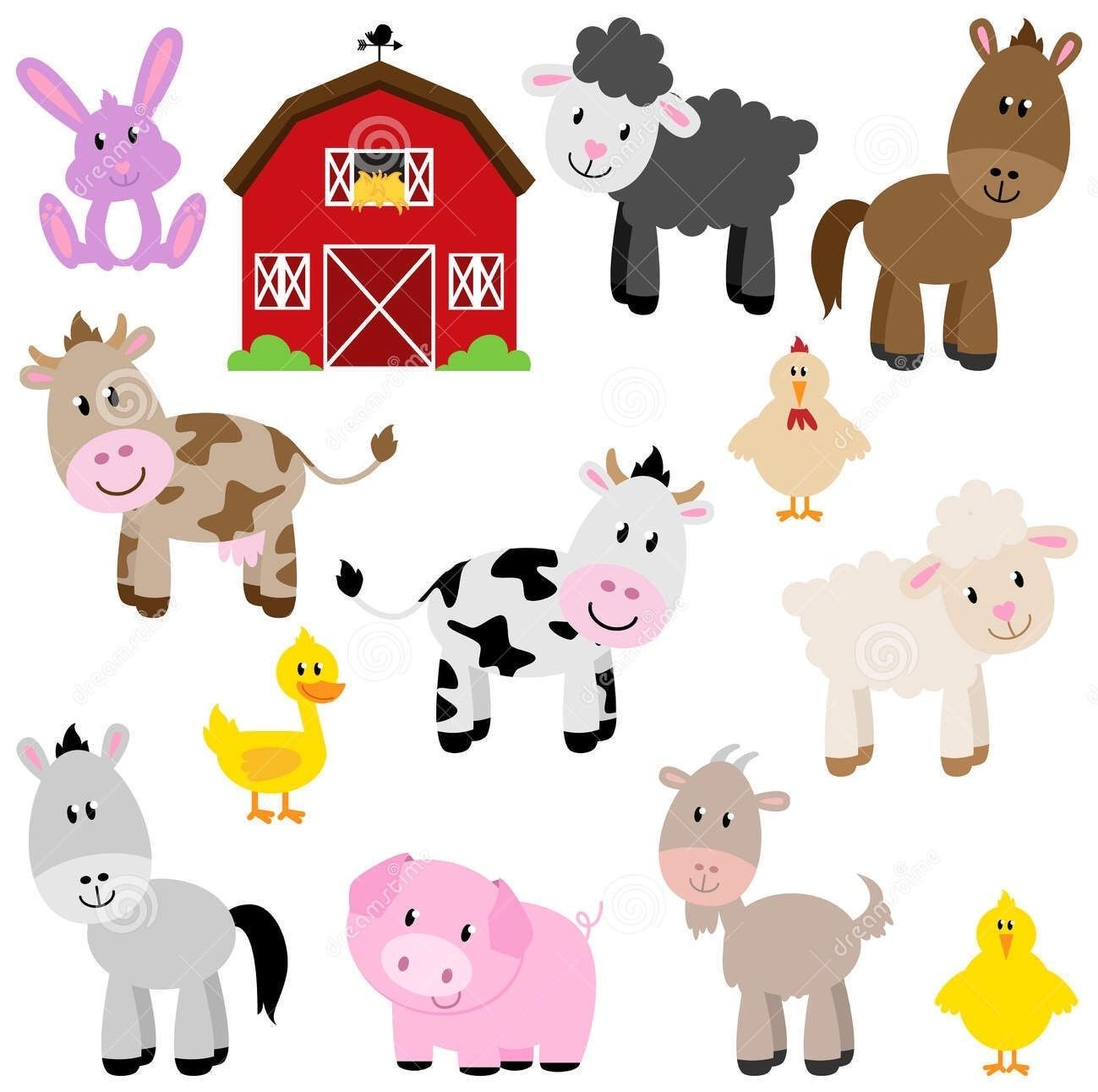 Baby farm clipart clipart transparent stock For Baby Farm Animals Clipart | Clip Art clipart transparent stock