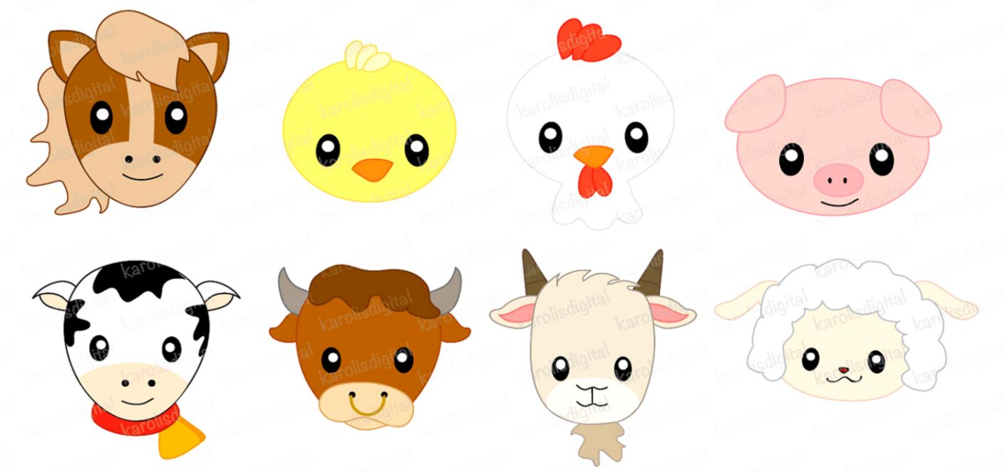 Baby farm clipart vector royalty free library Baby Farm Animals Clip Art | Wallpapers Link vector royalty free library