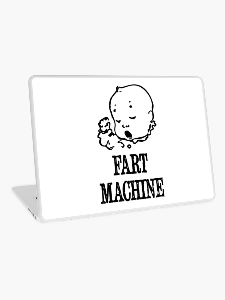 Baby farting in crib clipart vector black and white Baby Fart Machine 1 | Laptop Skin vector black and white