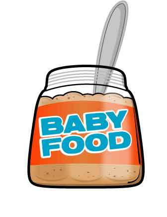 Baby favorite food clipart graphic black and white stock Baby J - Baby Food (CD, Album) | Discogs graphic black and white stock