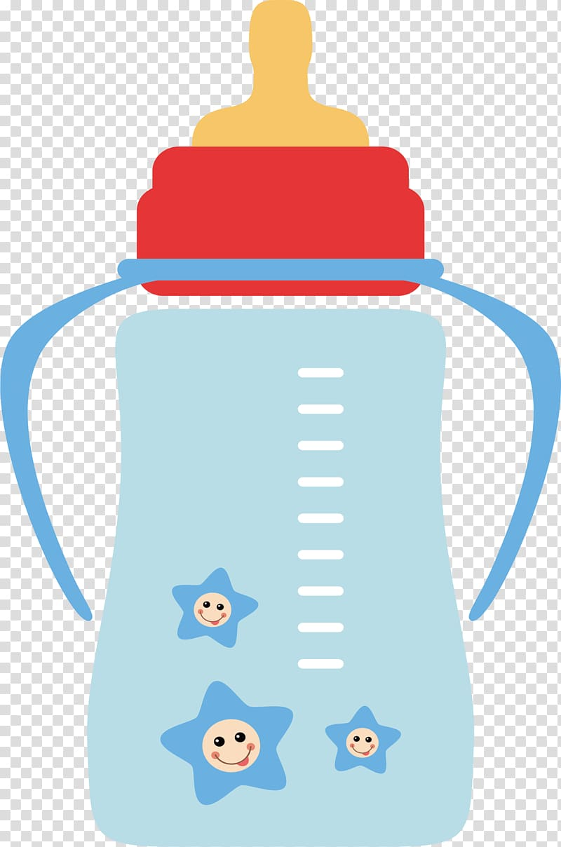 Feeding bottle clipart image royalty free library Red, yellow, and blue feeding bottle , Baby bottle Infant Milk ... image royalty free library
